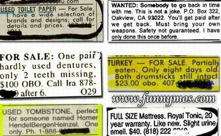 funny classifieds ads