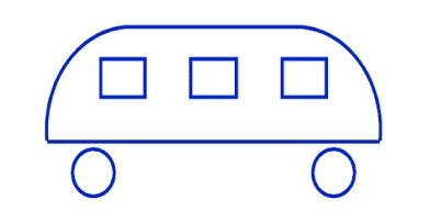 Funny bus - kindergarten test