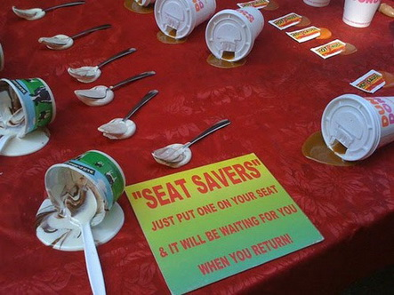 seat savers WTF Friday #7