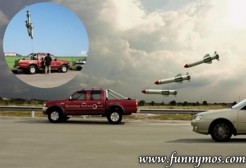 Cool car with funny balloons