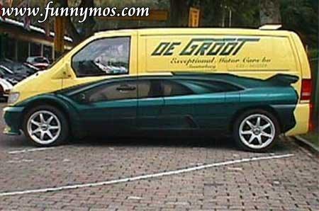 Funny car paint job