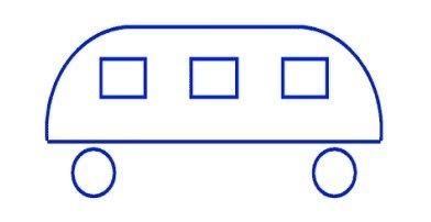 Funny bus - kindergarten test