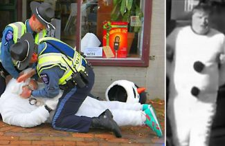 Frosty the Snowman, arrested in Chestertown