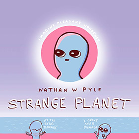 funny comics book with aliens